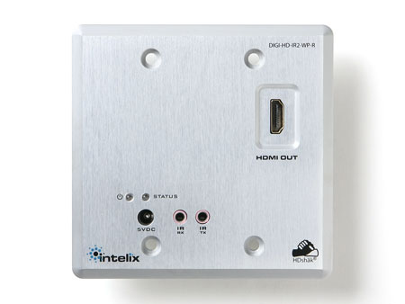 Intelix DIGI-HD-IR3-WP-R HDMI and IR over Twisted-Pair Wallplate Extender Receiver