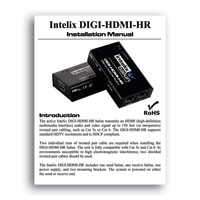 Intelix DIGI-HDMI-HR HDMI 1.3 over twisted-pair Balun Set - Manual  (click to download PDF)