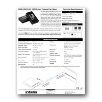 Intelix DIGI-HDMI-HR HDMI 1.3 over twisted-pair Balun Set - Specs (click to download PDF)