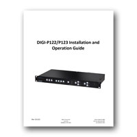 Intelix DIGI-P123 Presentation Switcher/Scaler, Installation and Operation Guide, PDF format