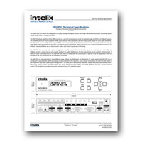 Intelix DIGI-P52 Presentation Switcher/Scaler, Technical Specifications, PDF format