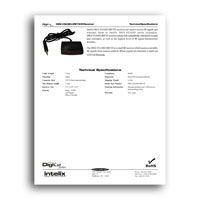 Intelix DIGI-VGASD-IREYE IR Receiver- techspecs (click to download PDF)