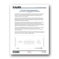 Intelix Flex Matrix Distribution System Tech Specs - PDF