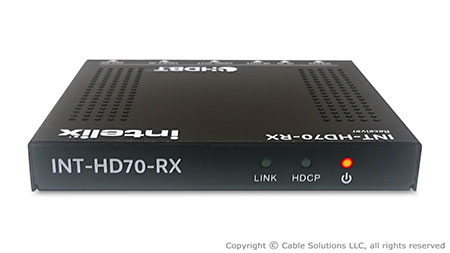 Intelix INT-HD70-RX HDMI, bi-directional IR, RS232 and Ethernet  via HDBaseT Receiver