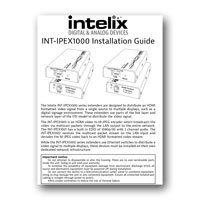 Intelix INT-IPEX1002  HDMI over IP Extender System, Installation Manual