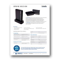 Intelix SKYPLAY-MX Wireless HDMI Extender Flyer - Click to download PDF
