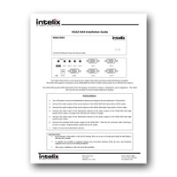Intelix VGA2-DA4 1x4 VGA and Stereo Audio Distribution Amplifier - Manual and specs