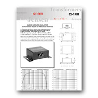 Jensen Transformers CI-1RR User Manual - click to download PDF