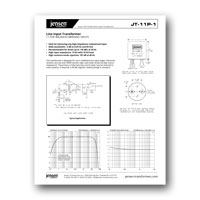 Jensen Transformers JT-11P-1 Data Sheet - click to download PDF