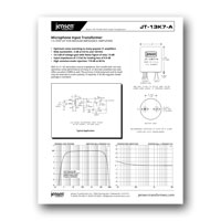 Jensen Transformers JT-13K7-A Data Sheet - click to download PDF