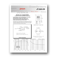 Jensen Transformers JT-34K-DX Datasheet - click to download PDF