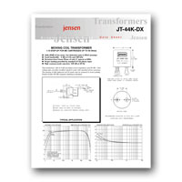 Jensen Transformers JT-44K-DX Datasheet - click to download PDF