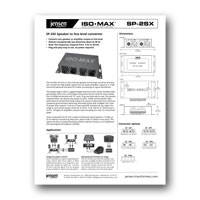 Jensen Transformers SP-2SX ISO-MAX Stereo Speaker to Line converter Data Sheet, PDF