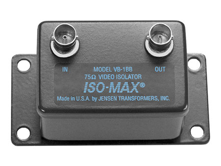 Jensen Transformers VB-1BB ISO-MAX Baseband-Composite Video Isolator with BNC Connectors