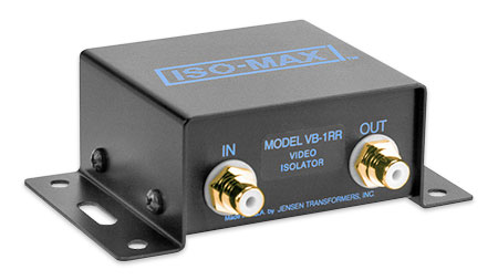 Jensen Transformers VB-1RR ISO-MAX Baseband-Composite Video Isolator with RCA Connectors