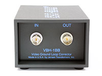Jensen Transformers VBH-1BB ISO-MAX Studio-Quality Isolator / Corrector for Video, connector panel