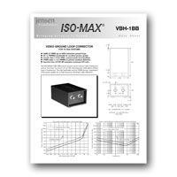 Jensen Transformers VBH-1BB ISO-MAX Studio-Quality Isolator / Corrector for Video, data sheetl