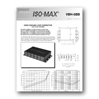 Jensen Transformers VBH-5BB ISO-MAX Studio-Quality Isolator / Corrector for 5 Channel RGBVH Component Video, data sheetl