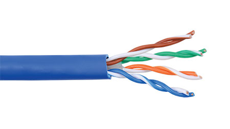 Liberty AV 24-4P-L6-EN-BLU Category 6 U/UTP EN Series 23 AWG 4-Pair Unshielded Cable, blue jacket