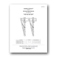 Liberty AV IC60T Tilt Wall Mount for Flat Panel TV - Instruction Manual