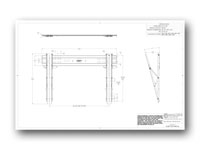Liberty AV IC60T Tilt Wall Mount for Flat Panel TV - Technical Drawing