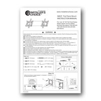 Liberty AV IM63T Tilt Wall Mount for Flat Panel TV - Instruction Manual