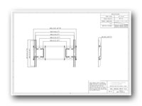 Liberty AV IM63T Tilt Wall Mount for Flat Panel TV - Technical Drawing