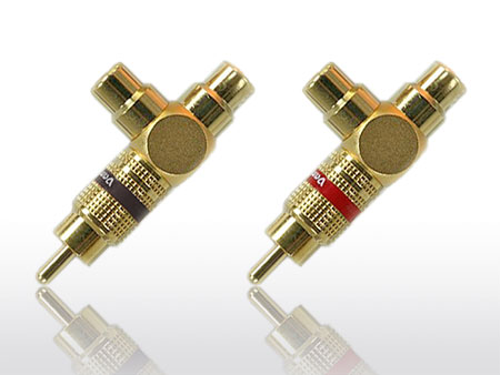 "Vampire Wire #Y ""Y"" Adapters - Gold-plated, All-metal Construction, Teflon dielectric"